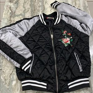 BSweet silky bomber quilted jacket medium girls